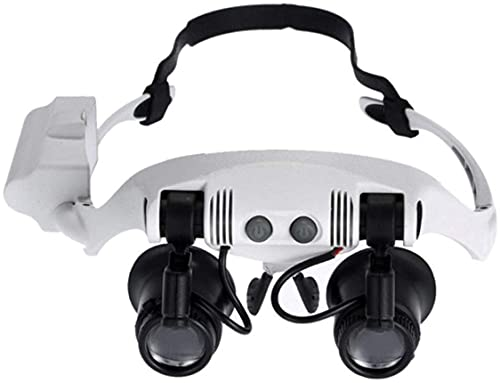 Lupas de joyería lupa gafas miniatura lupa Loop 10x 15x 20x 25x lupa auricular manos libres joyería Loop lupa lupa LED iluminada lupa lectura reloj reparación