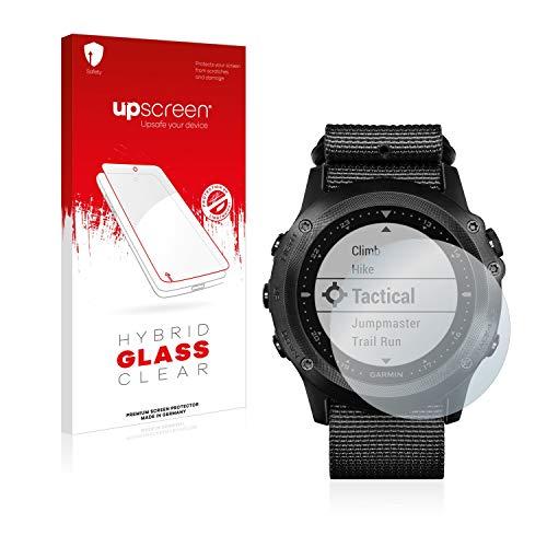upscreen Hybrid Glass Panzerglas Schutzfolie kompatibel mit Garmin Tactix Bravo 9H Panzerglas-Folie
