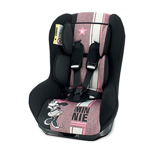 nania Seggiolino Auto Driver - Gruppo 0/1 (0-18kg) - inclinabile - Produzione Francese 100% - Protezioni Laterali - Disney Minnie First