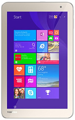 Toshiba Toshiba Encore-2 Tablet, Intel:Z3735F, 1.33 GHz, 64 GB, Intel-HD/IGP, Windows 8.1/7 Professional, Satin Gold, 8' WXGA