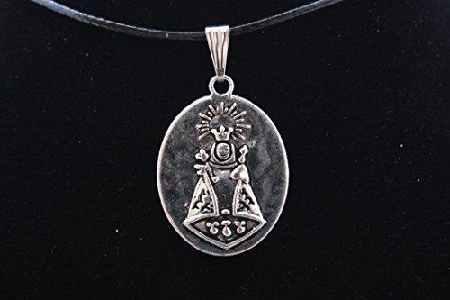 Colgante Medalla en Zamak metalizado y Acero, Virgen de Covadonga (Santina)