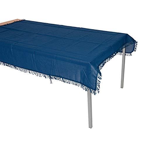 Wetterfeste Garten - Tischdecke aus Antirutsch - Kunststoff 140x180cm, blau