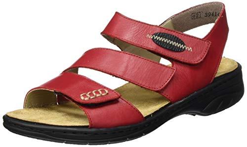 Rieker Damen Frühjahr/Sommer 64573 Geschlossene Sandalen, Rot (Rosso/Schwarz 33), 42 EU