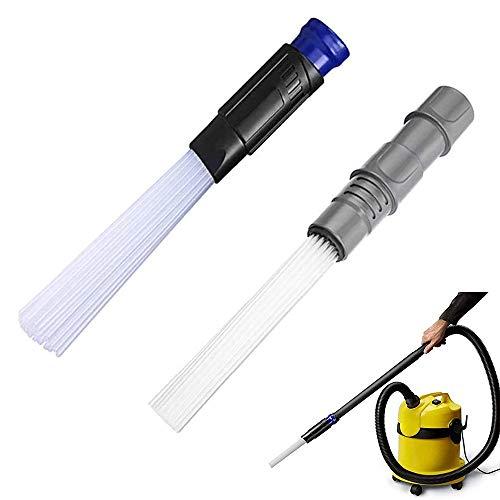 2 Piezas Dust Cepillo Universal,Limpiador de Ventilación para Limpiar el Polvo,Tubos de Succión Fuertes para Salidas de Aire, Teclados, Cajones, Coche, 30-35 mm