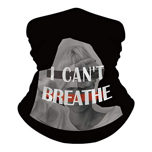 I Cant Breathe Foulard polyvalent pour le visage, la bouche, les mains, imprimé magique, bandeau hippie cravate cache-cou pour extérieur résistant à la poussière et au soleil 50 x 25 cm