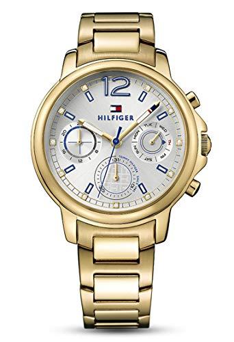Tommy Hilfiger Damer analog kvarts klocka med belagt rostfritt stål armband 1781742