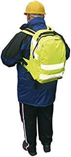Portwest B905 Hi Vis Work Rucksack (25L) with High Visibility Reflective Tape, Yellow