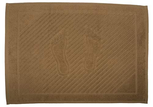 Tapis de bain avec pieds en toile de camel 50 x 70 cm (pas de tapis de salle de bain) 100 % coton naturel lavable pour hôtel, salle de bain, douche, sol 750 g/m²