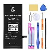 LL TRADER Batería para iPhone 6 Plus 3650 mAh, Reemplazo de Alta Capacidad Batería con 25% más de Capacidad y Herraminetas de Reparación, Cinta Adhesiva