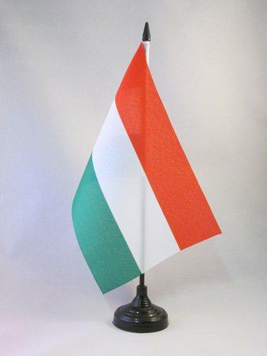 AZ FLAG TISCHFLAGGE UNGARN 21x14cm - UNGARISCHE TISCHFAHNE 14 x 21 cm - flaggen