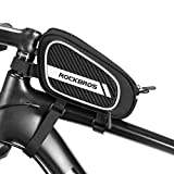ROCKBROS Bike Bags Frame Top Tube Bike Bag Bike Pouch Bike Storage Bag Black Bike Bag for Bicycles Suitable for Most...