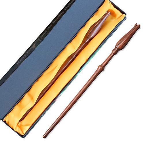 XGXQBS Varita mágica de Resina, Accesorios de Cosplay Varita de Harry Potter Luna Lovegood Varita mágica Bastón para Brujas y Magos,A,36cm