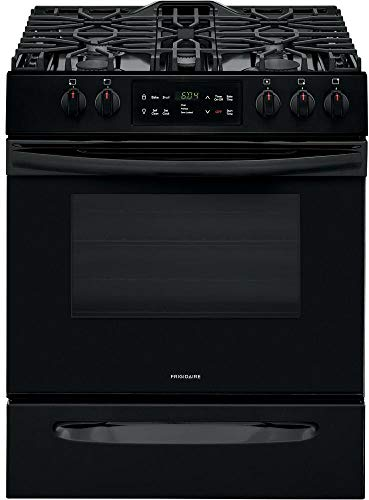 Frigidaire FFGH3054UB 30' Slide-in Gas Range with 5 Burners 5 Cu. Ft. Oven Capacity Self Clean and Storage Drawer in Black
