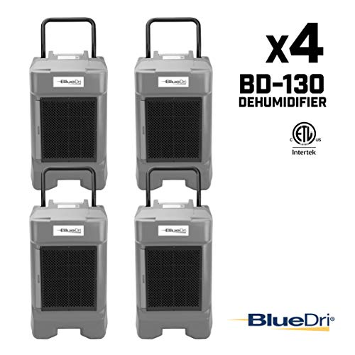Why Choose BlueDri BD-130P 225PPD Industrial Commercial Dehumidifier with Hose for Basements in Home...