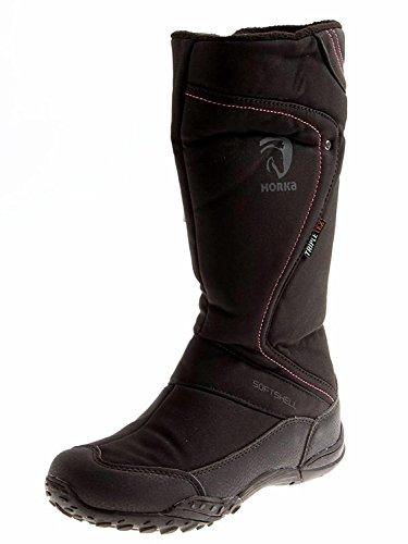 Horka Thermo-Stiefel, mit warmem Fleecefutter, Gummisohle, wasserdicht, für den Außenbereich, damen, Schwarz , UK 5 / EU 38 / US 7 / AU 7
