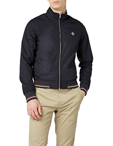 Schott nyc - blouson - manches longues - homme, Marine (Navy), FR : Large (Taille fabricant : L)