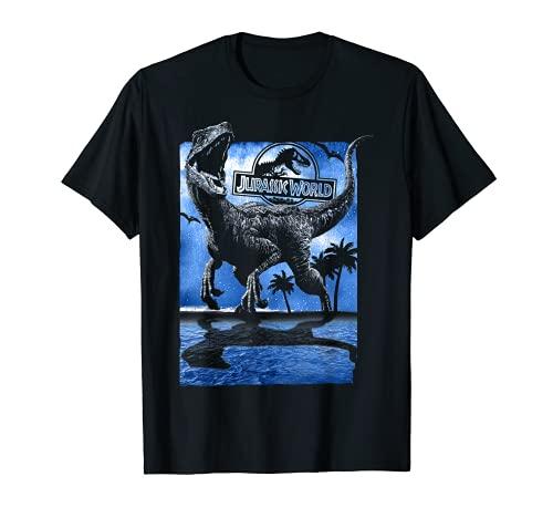 Jurassic World Raptor Moon Light Logo Camiseta