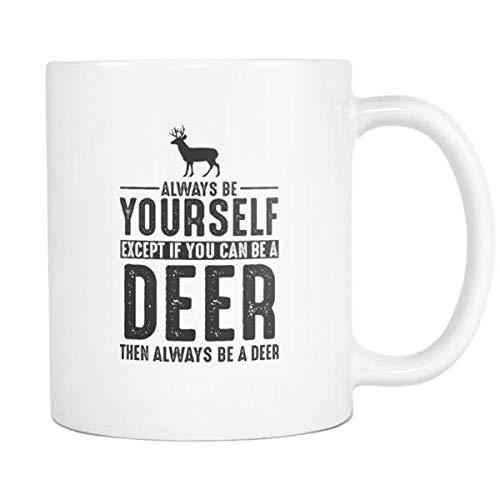 Tazza da tè con cervo, con scritta 'Always be Yourself' (lingua italiana non garantita)