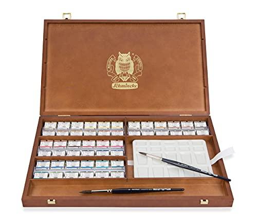 Schmincke Horadam Aquarell Deluxe Wooden Box Set- 48 Large Pans