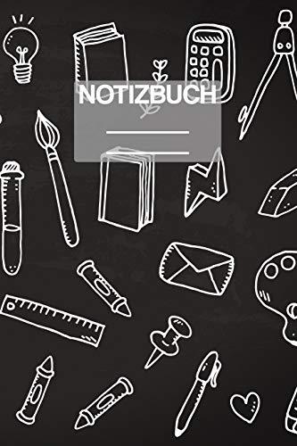 Notizbuch A5 Muster Schulsachen Grundschule Tasche Kinder Kids Schwarz Weiss: • 111 Seiten • EXTRA Kalender 2020 • Einzigartig • Kariert • Karo • Raster • Geschenk • Geschenkidee