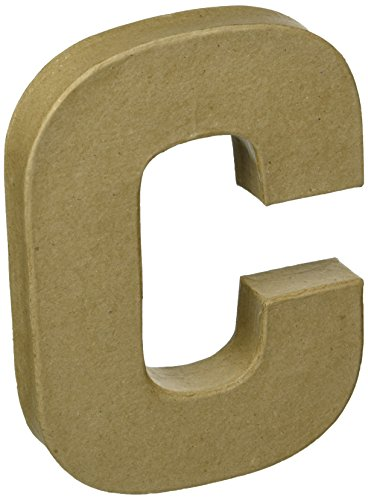 Darice 2862-C Paper Mache Letter 8Inx5.5In, One Size, Natural