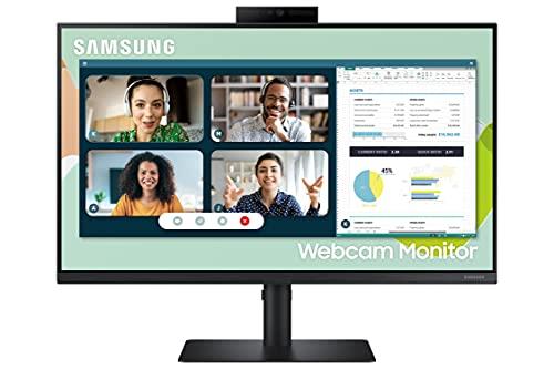 Samsung Webcam Monitor S40VA (S24A406), Flat, 24 , 1920x1080 (Full HD), Built-in Camera, IPS, 75 Hz, 5 ms, FreeSync, HDMI, USB 3.0, D-Sub, Display Port, Ingresso Audio, Casse integrate, HAS, Pivot