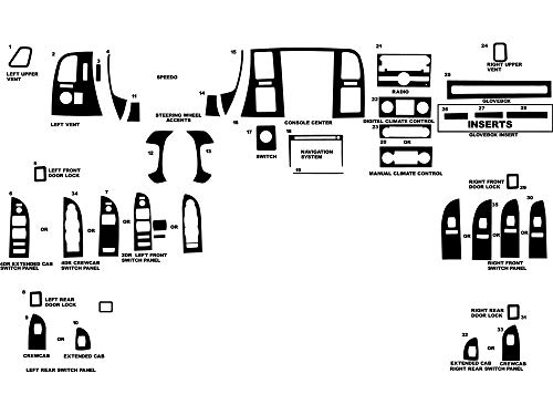 Rvinyl Rdash Dash Kit Decal Trim for Chevrolet Silverado 2007-2013 (LT/WT) - Carbon Fiber 4D (Black) Carbon Fiber Interior Trim Applique