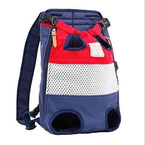 Mochila portadora de mascotas, mochila ajustable para perros y gatos, fácil de ajustar para viajar, senderismo, camping, para perros pequeños y medianos, gatos