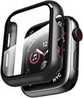Compatible with: This case compatible with apple watch series 6/SE 40mm & series 5 40mm and series 4 40mm. Shock-proof & Against Scratches: Made of high quality, anti-scratch hard pc and tempered glass, this 40mm case covers the full front and curved...
