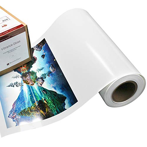 Vibrance Gloss Photo Printer Paper 10 mil 255 gsm Glossy Finish Premium Photo Paper Roll on 3inch Core 17 inches x 100 feet Works with Most Inkjet Printers Including Professional Makes and Models