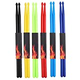 Suwimut 6 Pairs 5A Nylon Drum Sticks, Durable Non-slip Plastic Exercise Drumsticks for Kids, Adults, Musical Instrument Percussion Accessories
