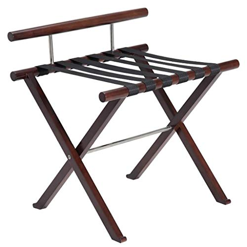 Best Price! Folding Luggage Rack Suitcase Stand Wooden Luggage Stand Backpacks (Color : C)