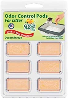 Citrus Magic Litter Box Odor Controlling Pods, Ocean Breeze Scent, 1 Pack (6 Pods)