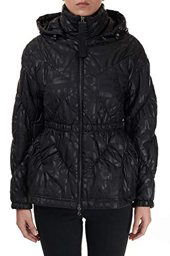 Emporio Armani Allover Hooded Fitted Black Jacket L Black