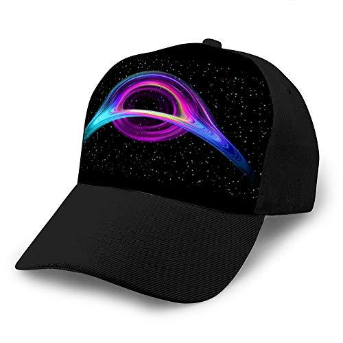 hyg03j4 2 Bequeme Baseballkappen Schwarzes Loch realistischer Raumsternzerstörungskreis Ballkappe