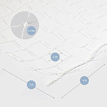 Bella & Balu Filet de Protection Transparent pour Chat pour sa sécurité pour Balcon & Fenêtre | Crochets, Chevilles, Corde complète et Instructions de Fixation fournis