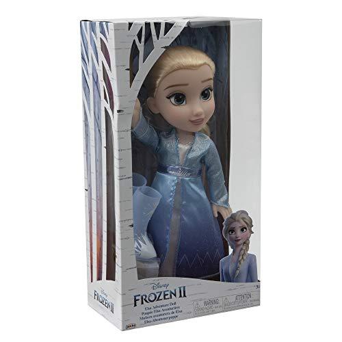 Giochi Preziosi Disney Frozen 2, Elsa con Vestito delle Avventure, Bambola 35 cm