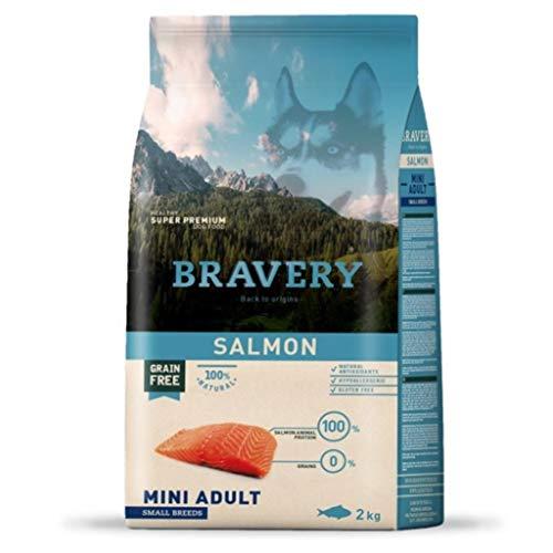 BRAVERY - Croquetas salmón para Perro, 2 kg, Talla S