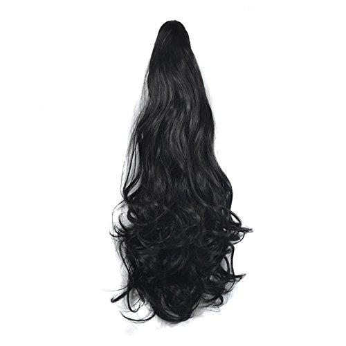 Rallonges de cheveux bouclés à clips - 150 g (1B) - 56 cm
