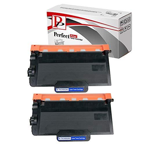 PerfectPrintTN-3480 –2 x Toner Nero Cartucce Sostituzione per Stampante Brother, 2 Pezzi