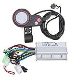 Alomejor Controlador de Pantalla LCD 24 V / 36 V / 48 V / 60 V 250 W / 350 W Controlador de Velocidad con Panel de Pantalla LCD Impermeable para Bicicleta eléctrica Scooter(36V)