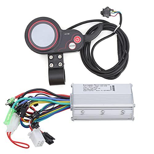 Scooter Brushless Controller 24 V / 36 V / 48 V / 60 V 250 W / 350 W Geschwindigkeitsregler mit Wasserdichter LCD Anzeige für Elektrischen Fahrrad Roller(36V)