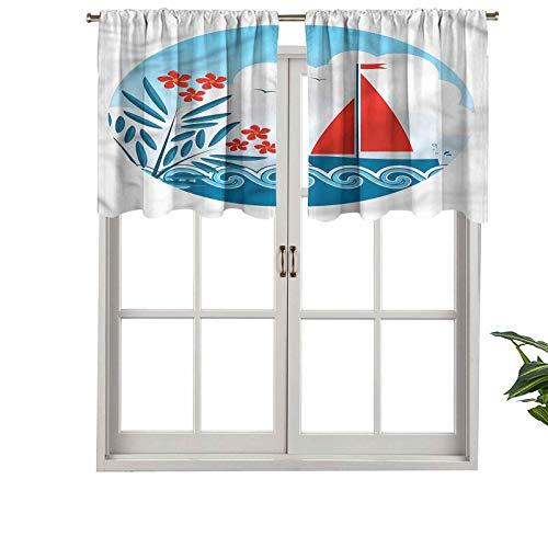 Hiiiman Elegante cortina de bolsillo para barra, cenefas de avena velero, juego de 2, 106,7 x 60,9 cm, decoración del hogar para habitación de niños y niñas