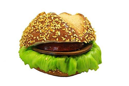 Handgemachte & Realistische Lebensmittel Attrappe - Sandwich/Belegtes Brötchen - Durchmesser: 11cm / Höhe: 8cm