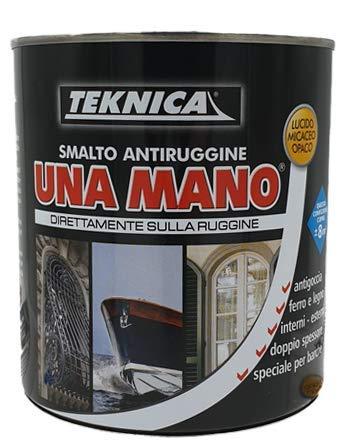 Smalto antiruggine lucido UNA MANO- Teknica direttamente sulla ruggine 750 ml (TURCHESE)