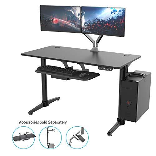 [New Generation] EUREKA ERGONOMIC Electric Standing Desk, Adjustable Height Stand Up Desk Computer Desks, Dual Motor with Self-Locking Protection, Modern Cool Design, Black