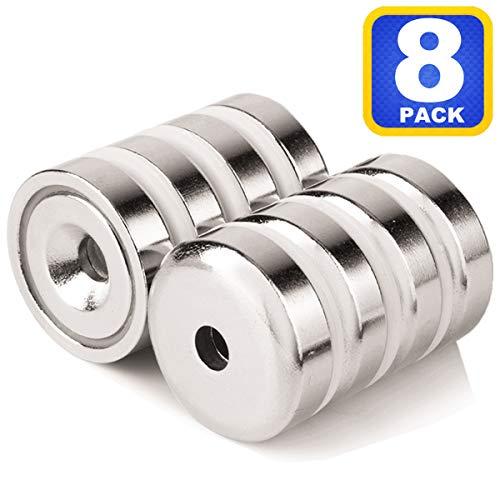 世界最強マグネット ネオジウム磁石 強力マグネット ネジ穴 皿穴付き保護ハウジング 直径25mm 厚み7mm 丸形...
