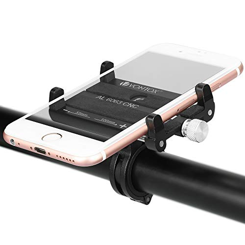 V VONTOX Fahrrad Handyhalterung, Anti-Shake Fahrradhalterung Motorrad Handy-Halter Einstellbar Radsport Verhütung von Abstürzen Fahrrad-Lenker Handyhalter für 3.5-6.2 Zoll Smartphone GPS Andere Geräte