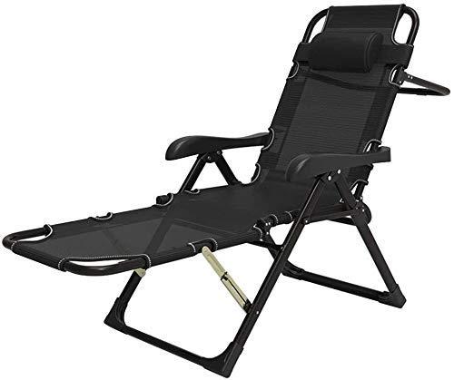 WDHWD - Sillón reclinable reclinable para exteriores, silla reclinable plegable de exterior, tumbona de playa, silla exterior zego, sillas largas de interior