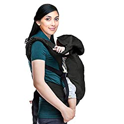 LuvLap Grand Baby Carrier with 100% Cotton Fabric, for 4 to 36 Months, Max Weight Up to 15 Kgs (Black),Luvlap,Luvlap,baby,carrier,luvlap